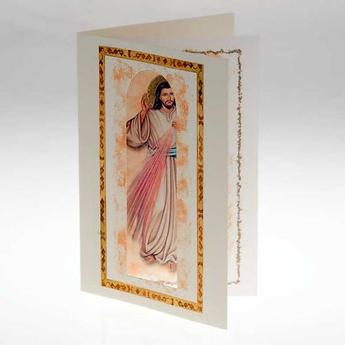 Divine Mercy card with parchment 2