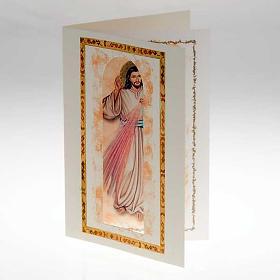 Carte voeux avec parchemin Christ Miséricordieux s2