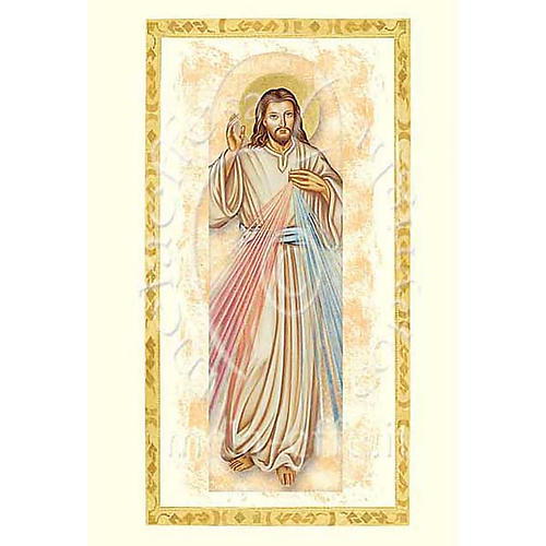Divine Mercy card with parchment 1
