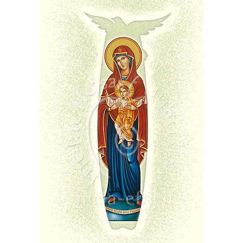 Christmas wishes card with scroll Our Lady Queen of the Missions 1