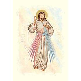 Kartka z życzeniami pergamin Jezus Miłosierny s1