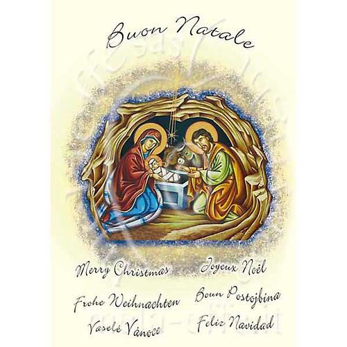 Biglietto augurale natalizio con pergamena 1
