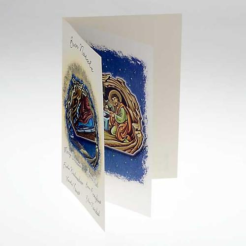 Biglietto augurale natalizio con pergamena 2