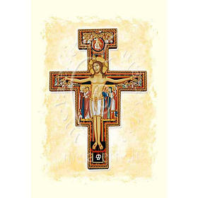 Greeting cards: Saint Damian's Crucifix card with parchment