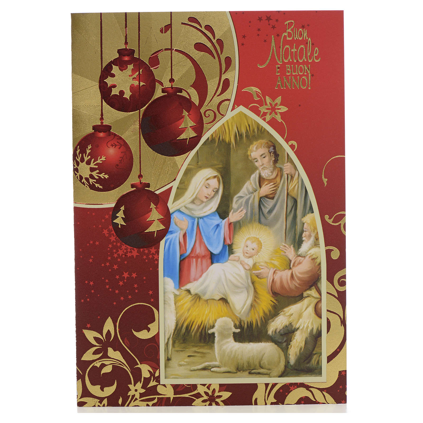 Festive card, Nativity and wishes 4