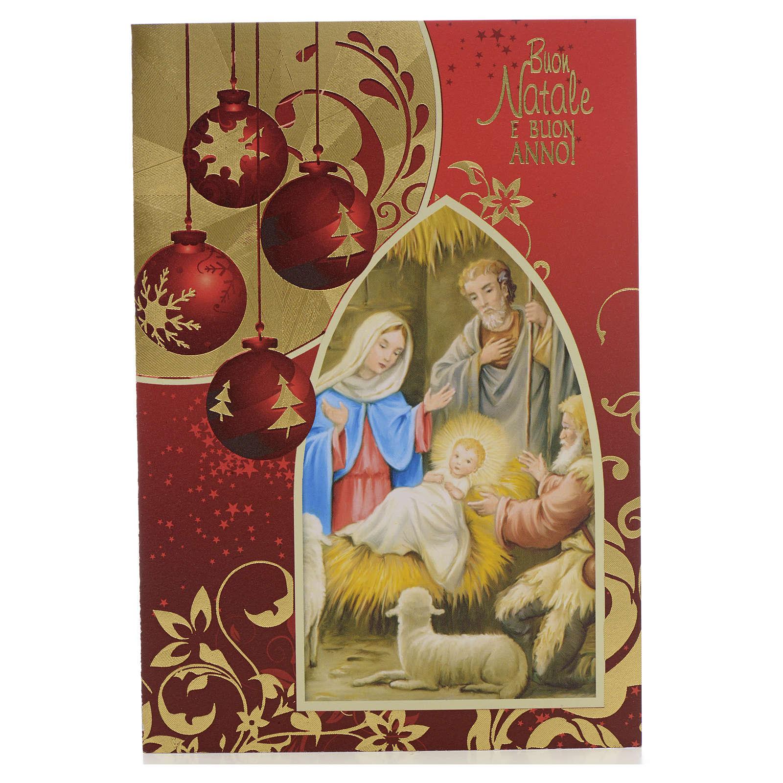 Bigliettino auguri Natale con Natività 4
