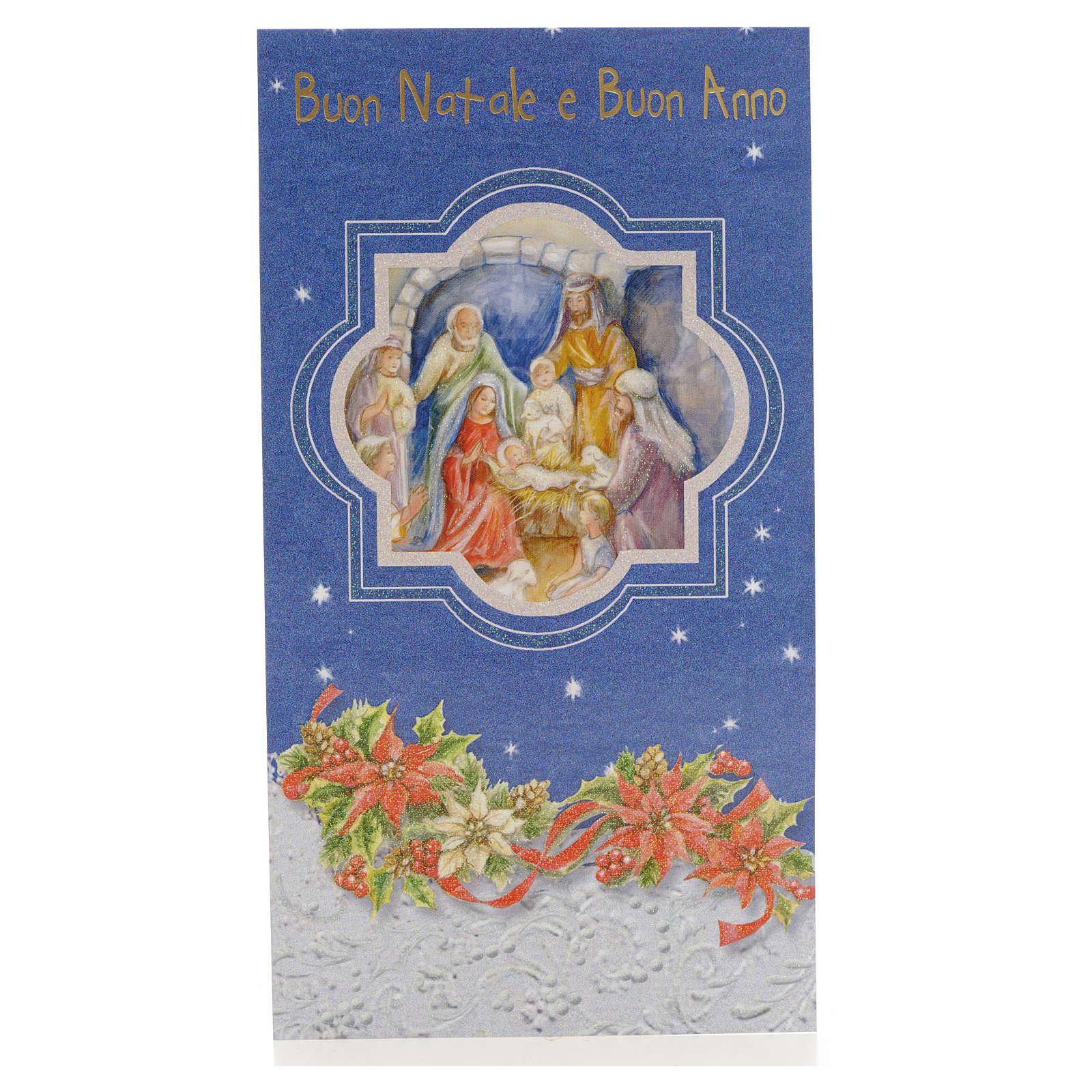 Festive card with Nativity scene 4