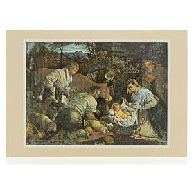 Cartes de vœux: Carte postale Crèche ITA