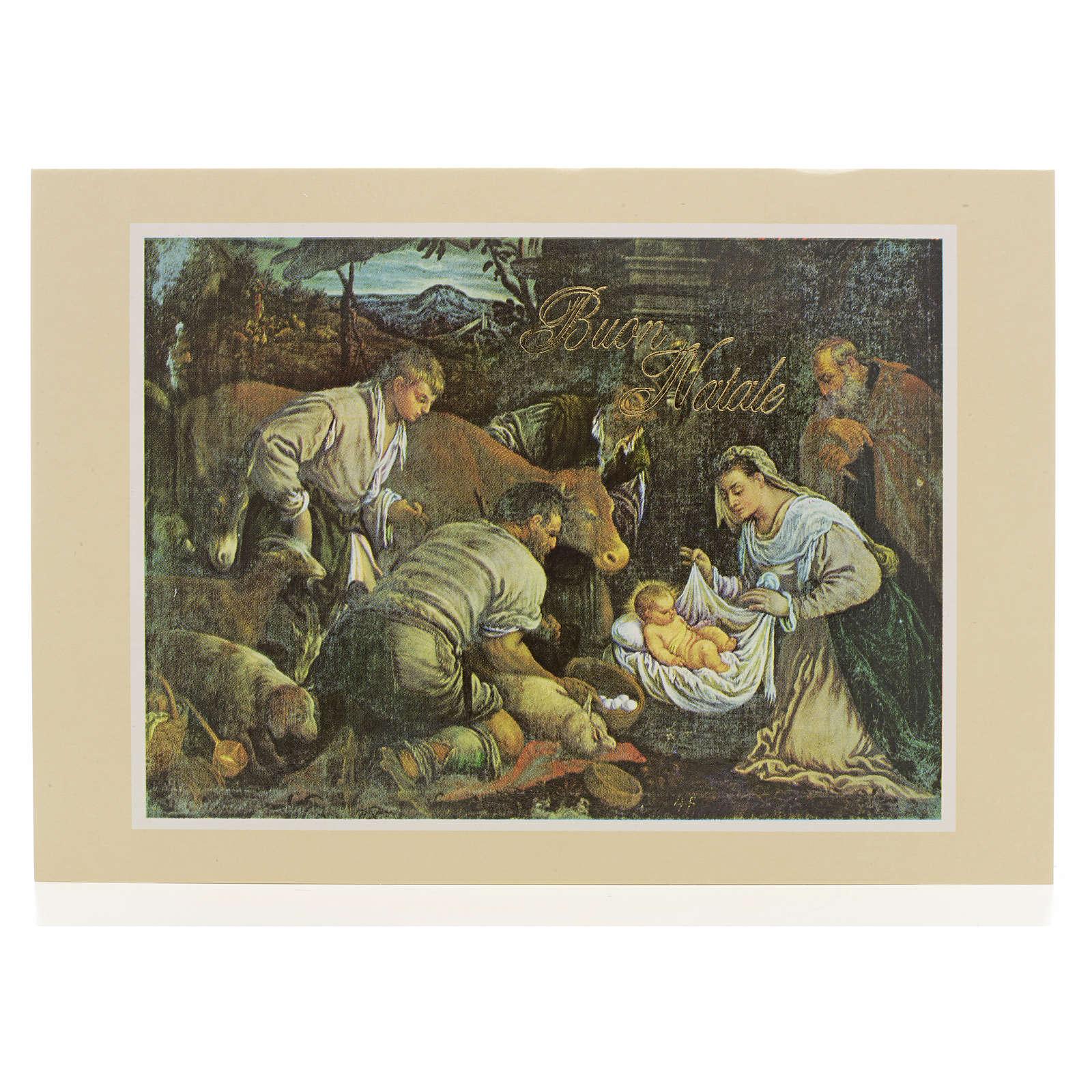 Kartka pocztowa szopka Bożonarodzeniowa 4