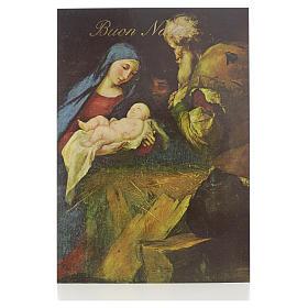 Cartes de vœux: Carte postale avec Nativité ITA