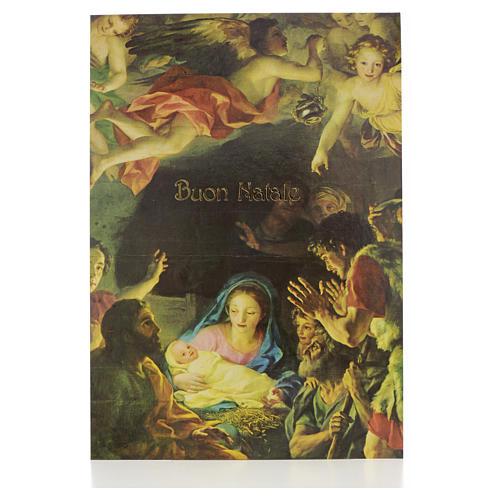 Postal de la Natividad con ángeles 1