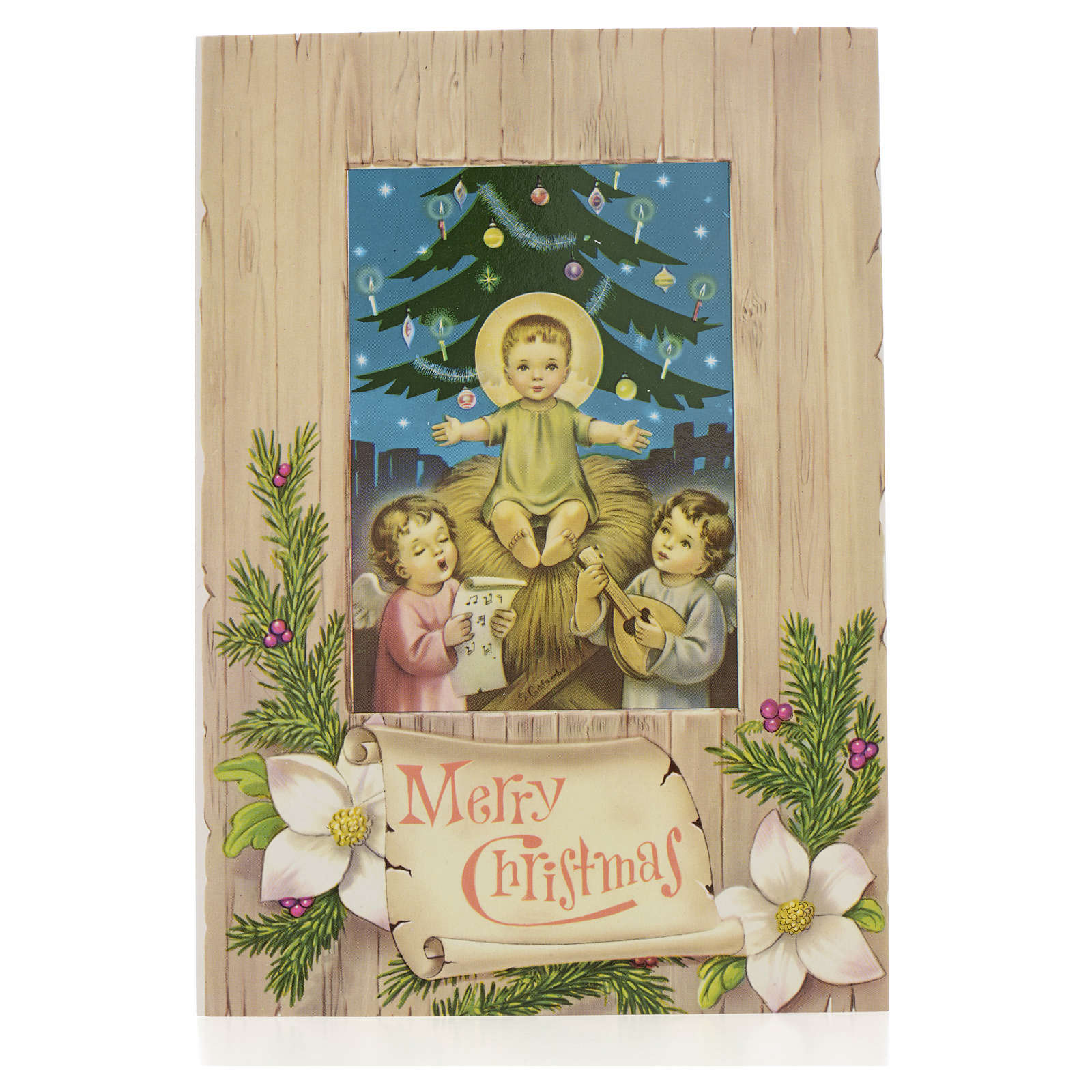 Cartolina postale Gesù Bambino 4