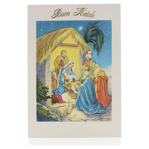 christmas card with nativity online sales on holyart com
