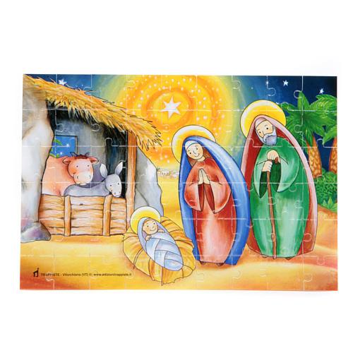 Kartka z życzeniami i puzzle Wesołych Świąt Bożego Narodzenia 2