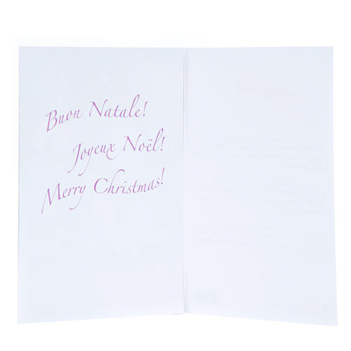 Card with Merry Christmas wishes and 9 days advent calendar 2