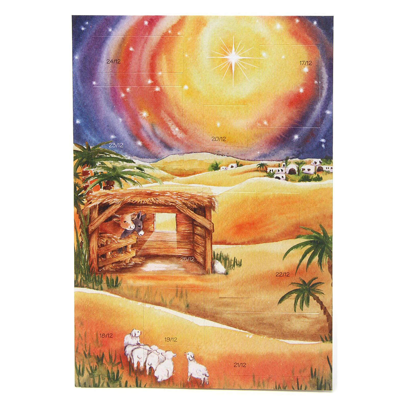 Tarjeta frase de felicitaciones con calendario Novena de Navidad 4