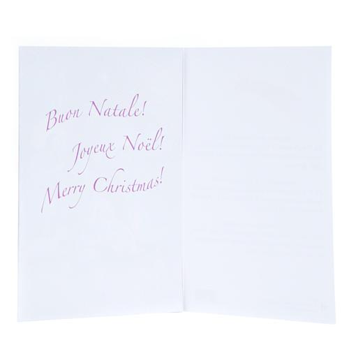 Tarjeta frase de felicitaciones con calendario Novena de Navidad 2