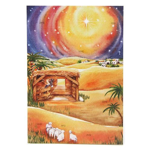 Carte voeux avec calendrier Neuvaine de Noël 3