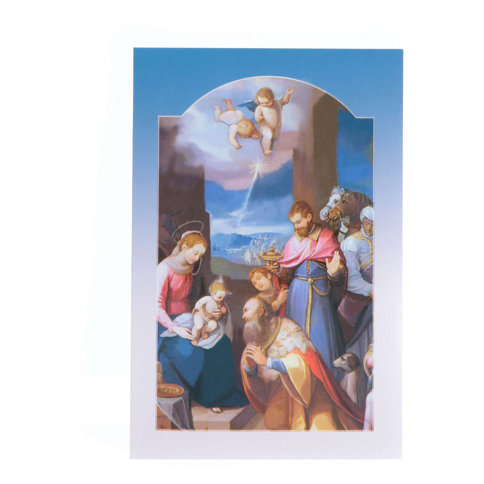 Christmas Card with Adoring Wise Men 4