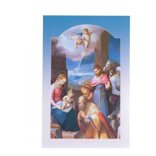 Tarjeta felicitaciones Adoración Reyes Magos - sin pie 1