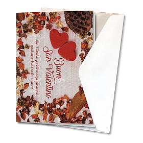 Greeting card in pearl paper Valentine's Day Hearts on a Table s2
