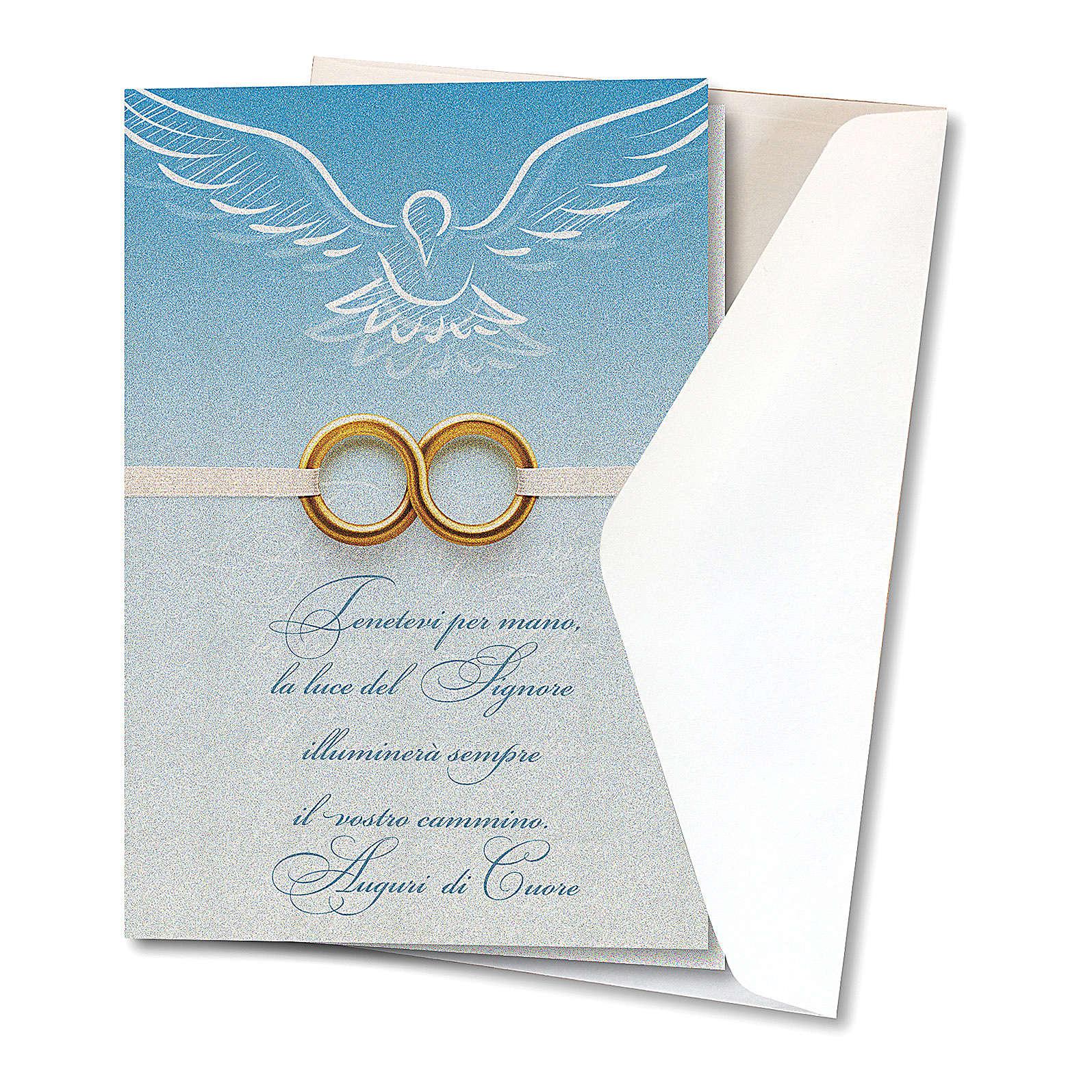Biglietto Auguri carta perlata per Matrimonio Fedi 4