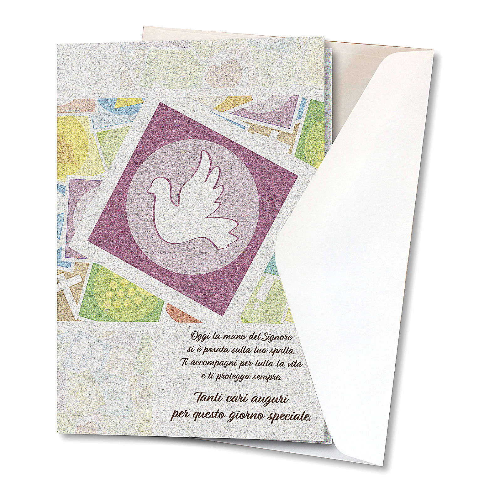 Greeting card in pearl paper Confirmation Holy Spirit 4