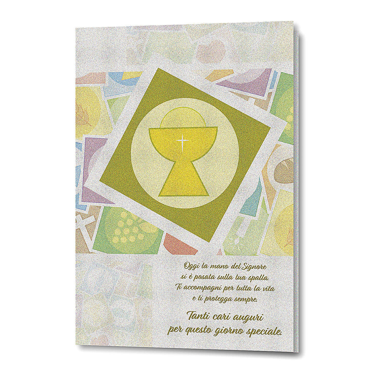 Greeting card in pearl paper First Communion Goblet 4