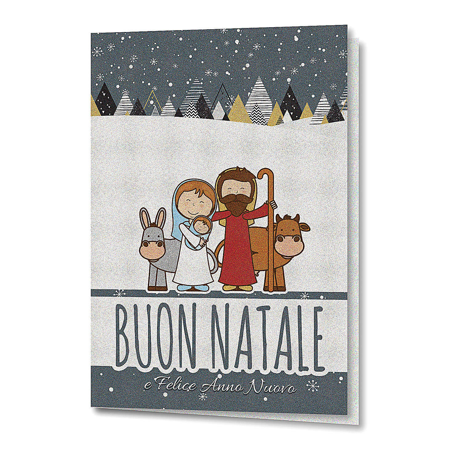 Greeting card in pearl paper Holy Family 4