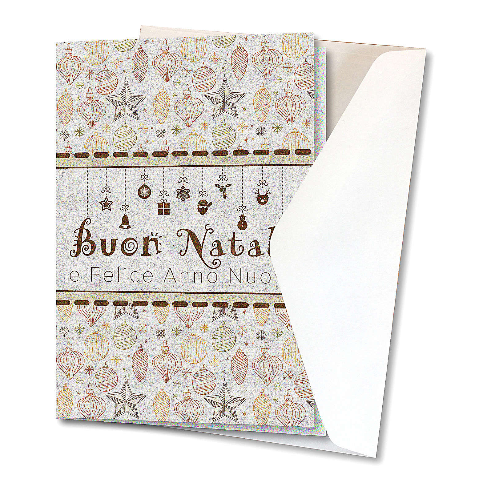 Greeting card in pearl paper Christmas Decorations 4