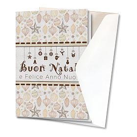 Biglietto Augurale Natalizio carta perlata Decorazioni Natalizie s2