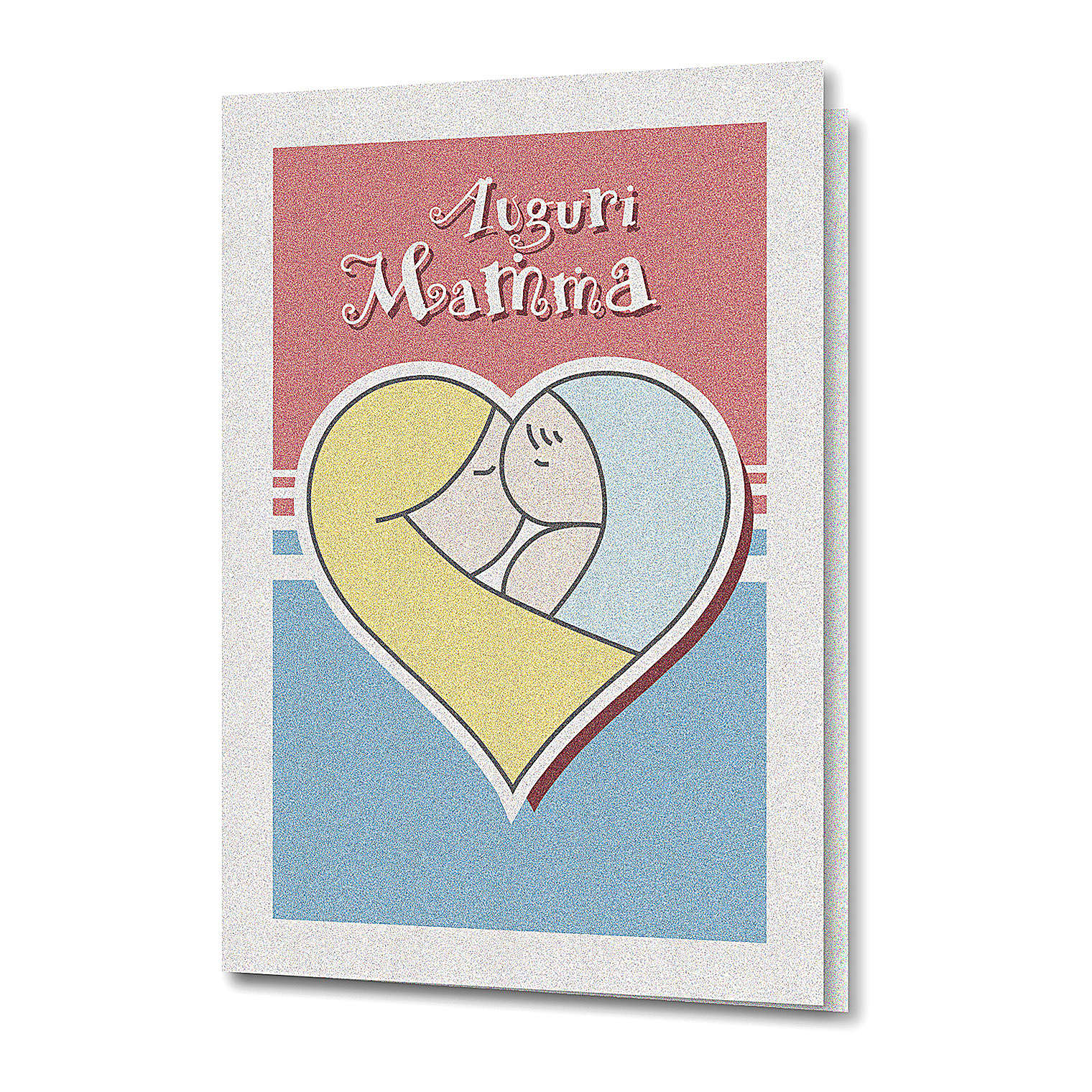 Greeting card in pearl paper Mother's Day Baby in a Heart 4