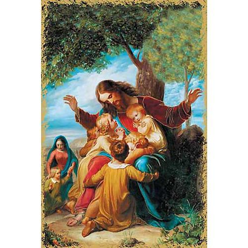 Santino religioso Gesù e i bambini 1