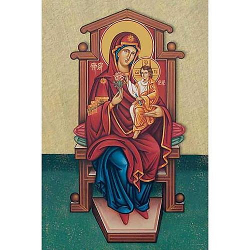 Santino Madonna con bambin Gesù in trono 1