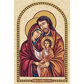 Santino Sacra Famiglia con cornice s1