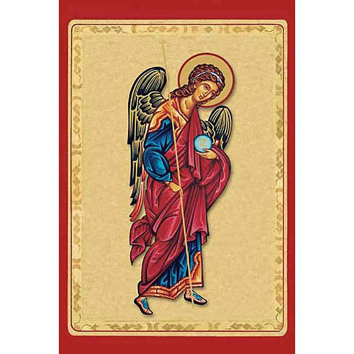 Holy card, Angel with red cloak 1