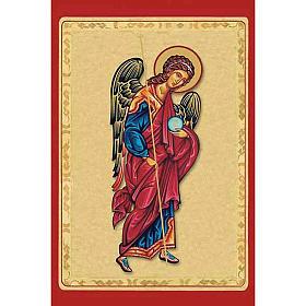 Estampas Religiosas: Estampa Arcángel Gabriel manta roja