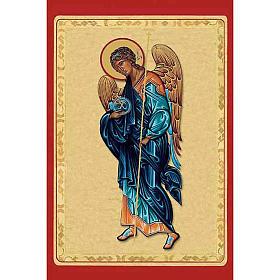 Estampa Arcángel Miguel con manta azul s1