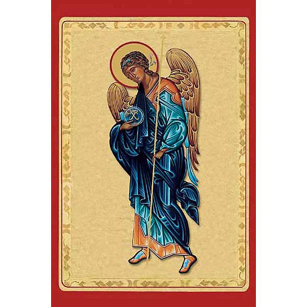 Santino Arcangelo Michele con manto blu 4