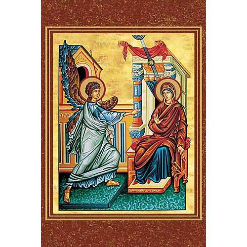 Estampa religiosa Anunciación bizantino 1