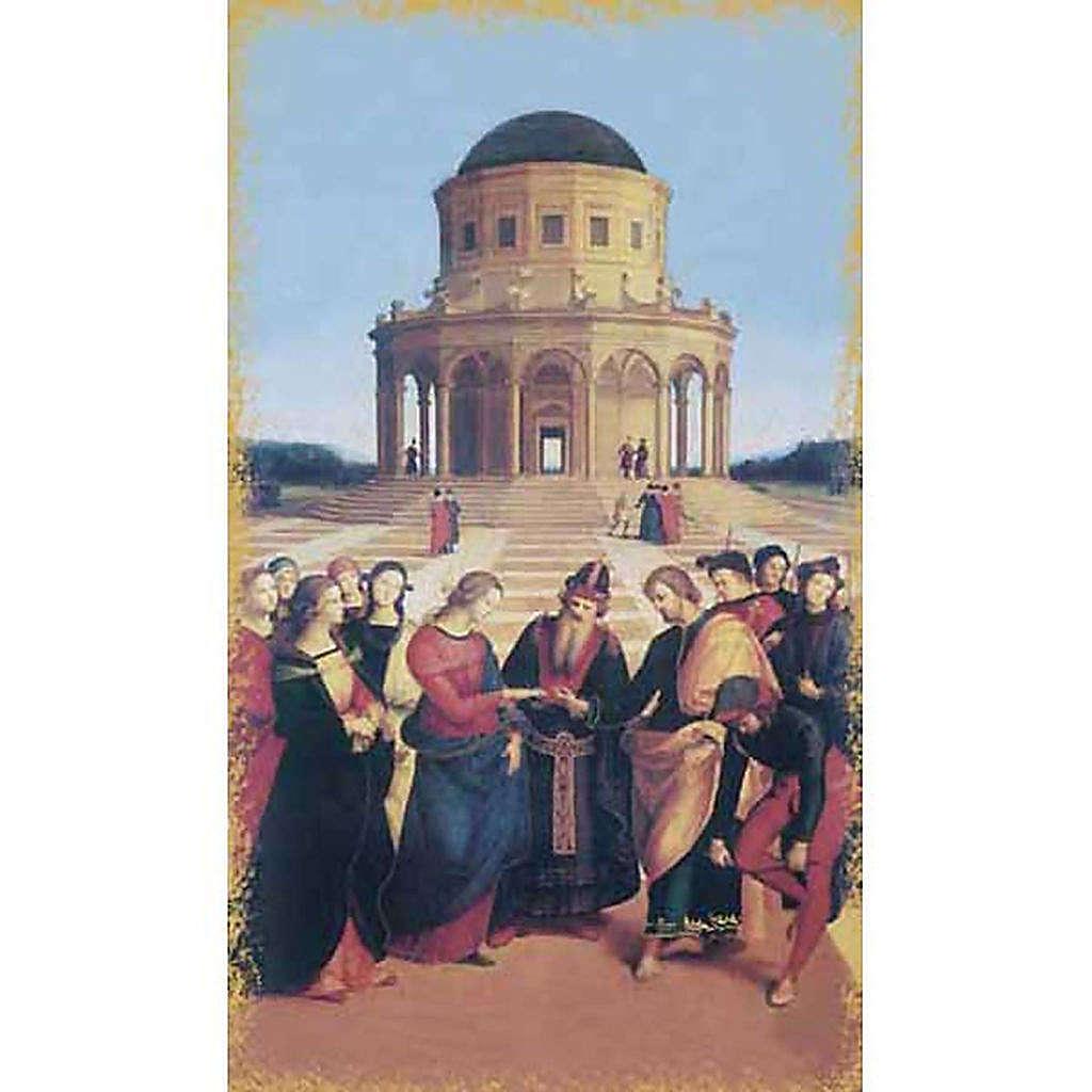Holy card, Mary and St. Joseph wedding 4