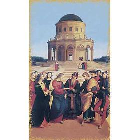Holy card, Mary and St. Joseph wedding s1