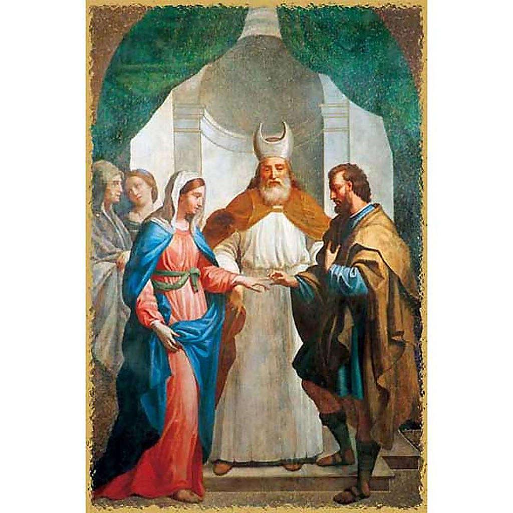 Holy card, Virgin Mary wedding 4