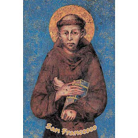 Holy card, St Francis s1