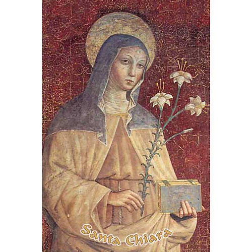 Holy card, St Clare 1