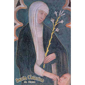 Holy card, St Catherine of Siena s1