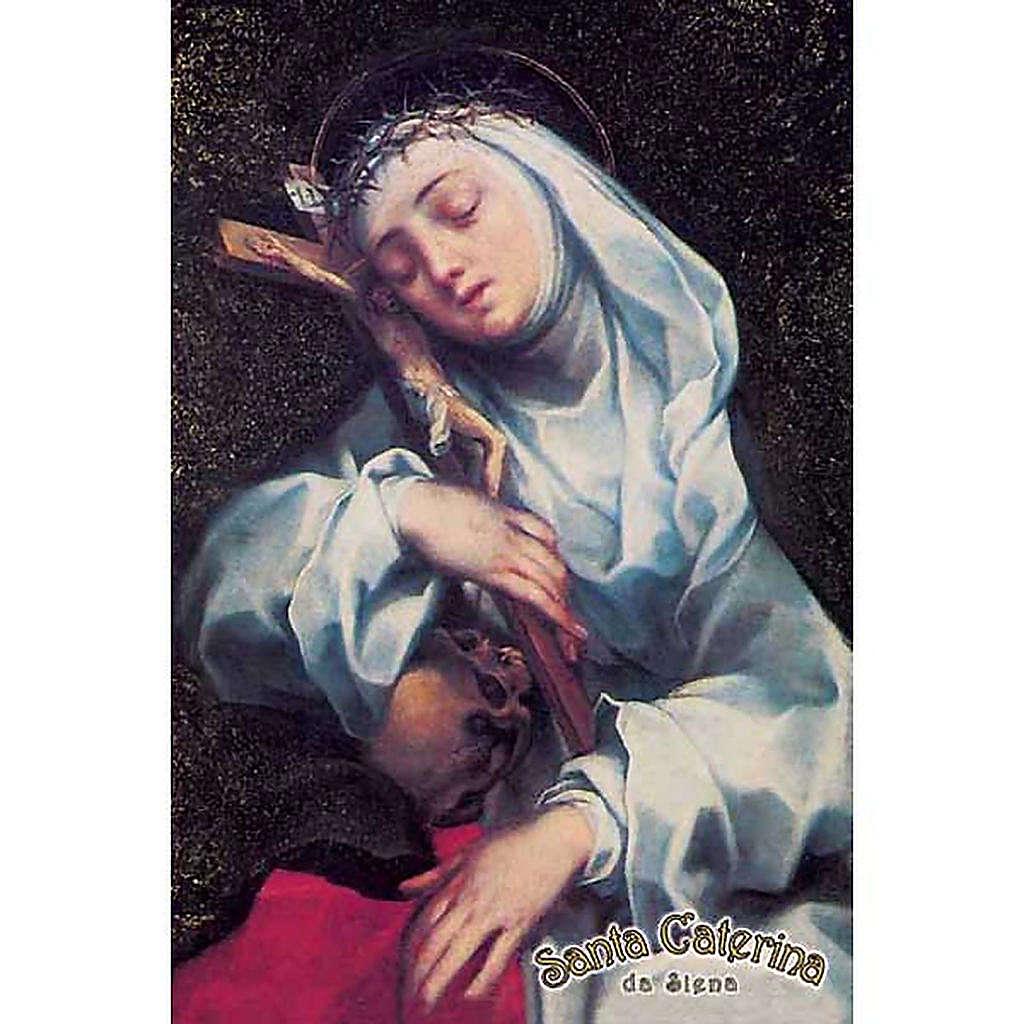 Santino Santa Caterina con croce 4