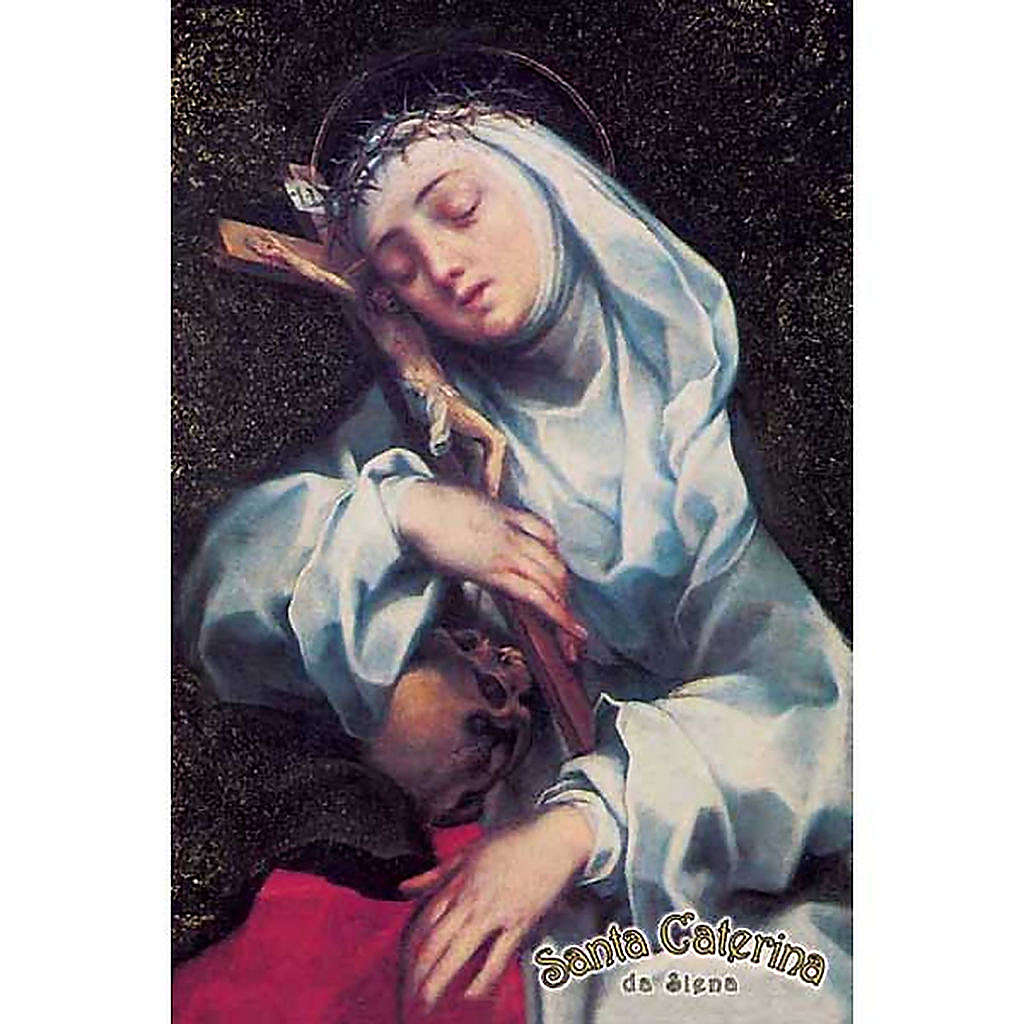 Holy card, St Catherine with cross 4