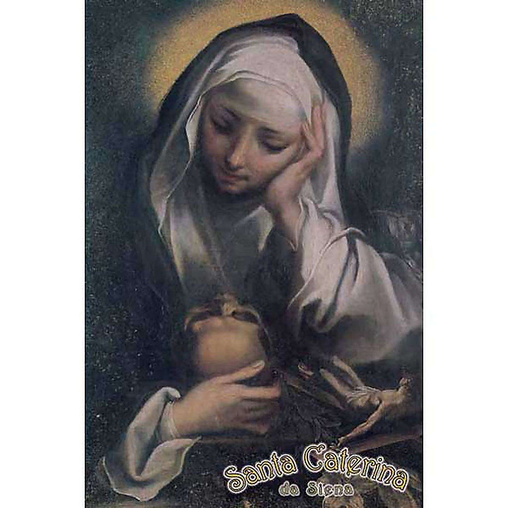 Santino Santa Caterina in preghiera 4