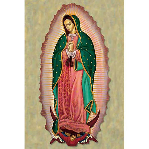 Our Lady of Guadalupe holy card 1